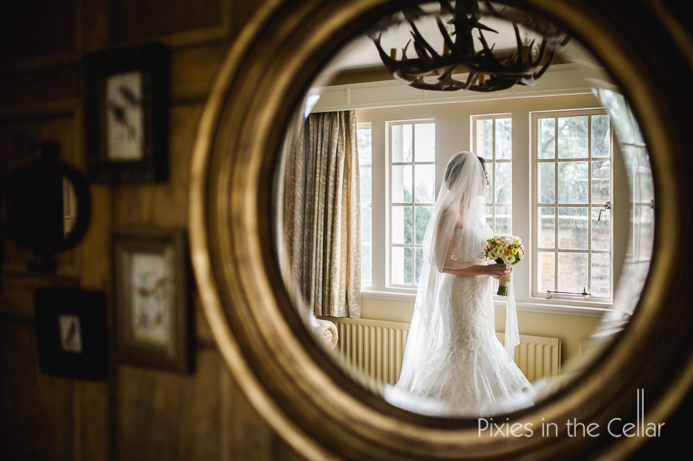 Bridal portrait Eaves Hall wedding