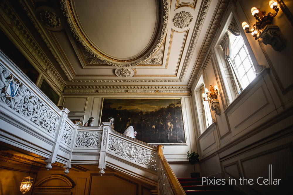 staircase knowsley hall wedding