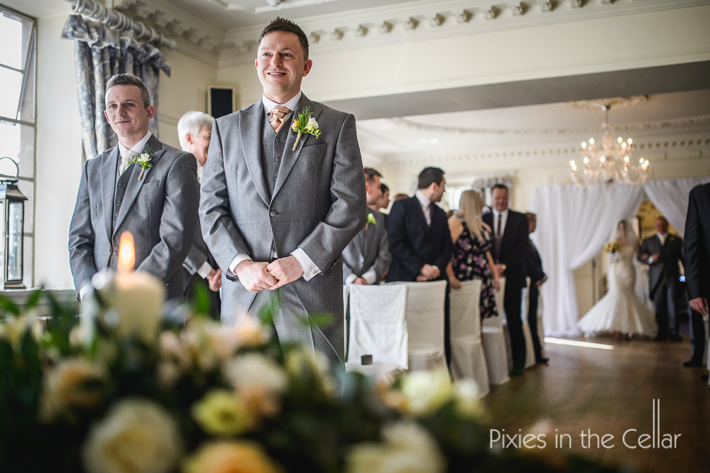 Clitheroe winter wedding ceremony