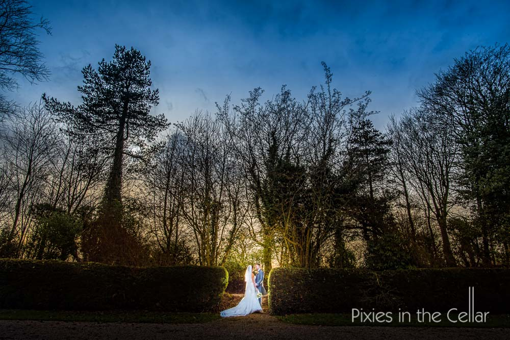 Eaves hall winter wedding lancashire