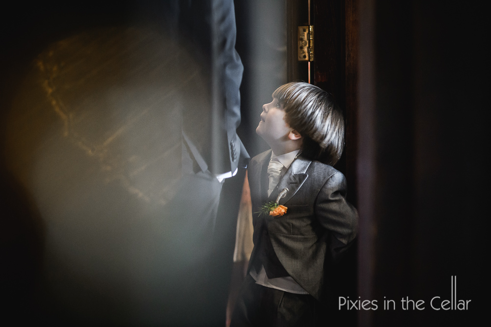 eaves hall wedding pageboy