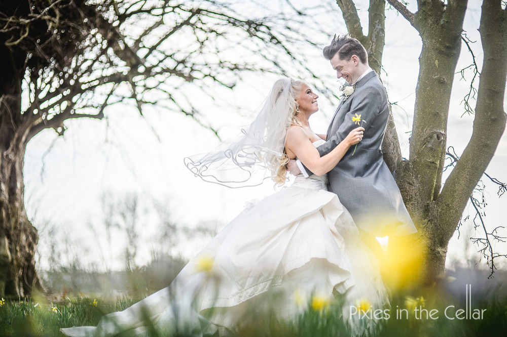 knowsley hall spring wedding