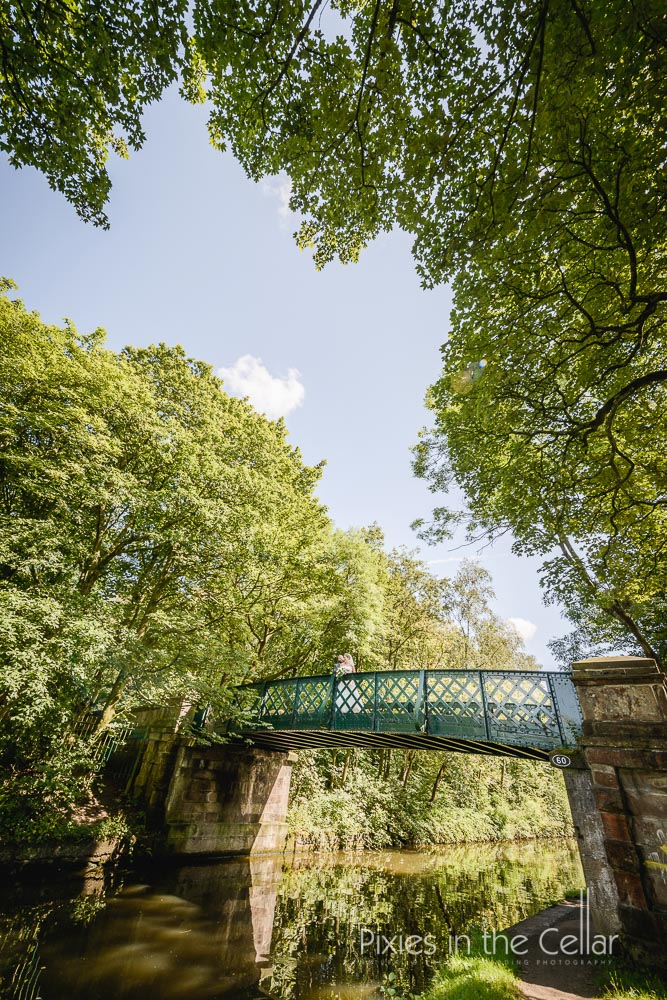 Lancashire canal bridge wedding photography