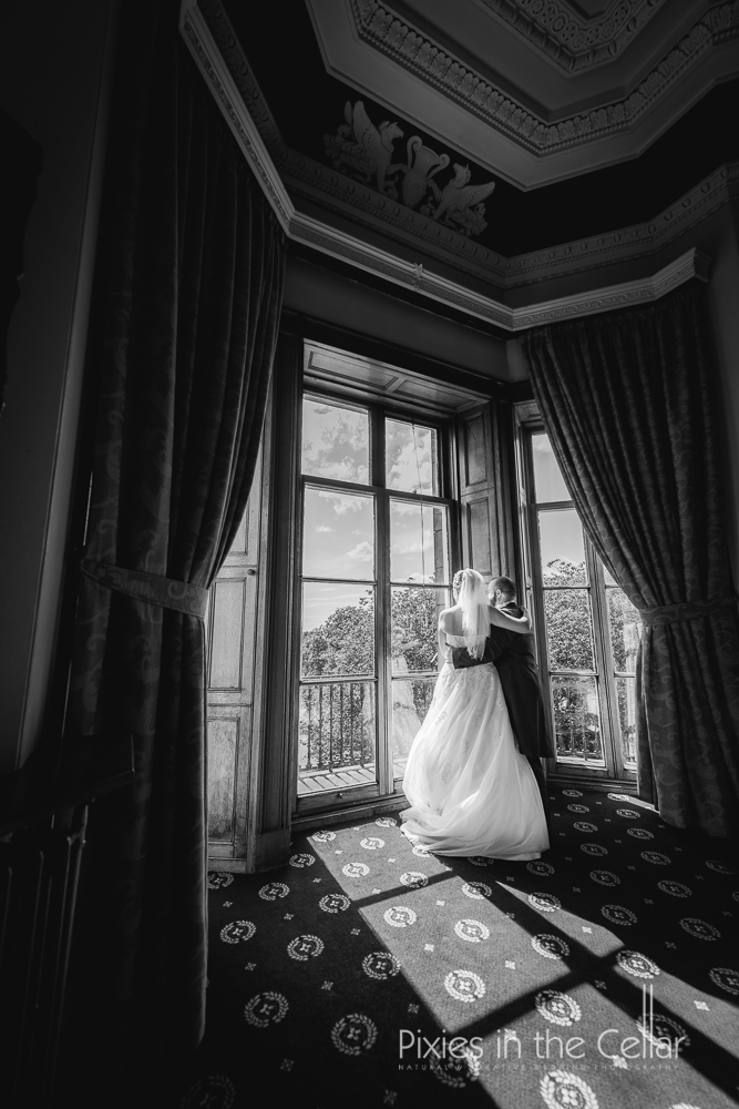 Haigh hall wedding bay window