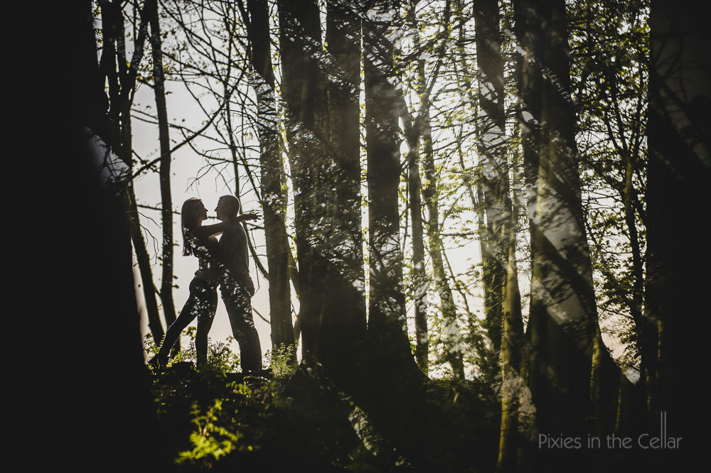 woods engagement shoot Cheshire