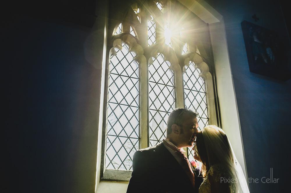 Manchester wedding church light