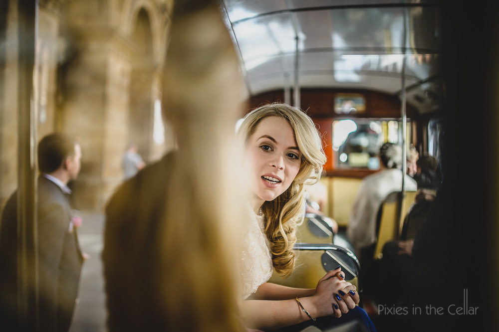 Manchester wedding photography vintage bus