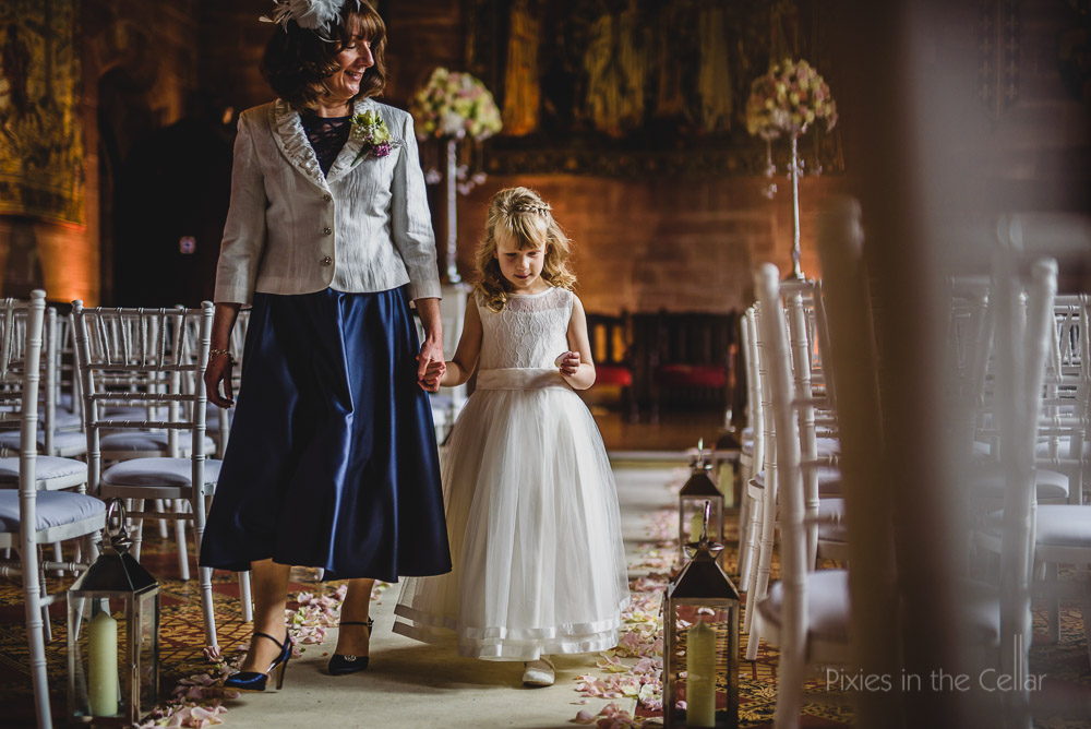 peckforton castle flower girl