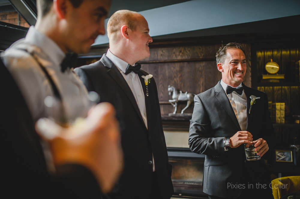 Black tie groomsmen Chester