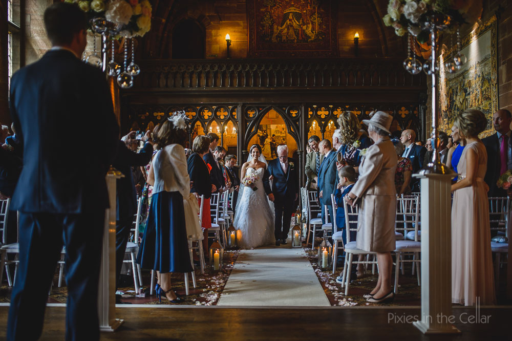 peckforton castle wedding ceremony great hall