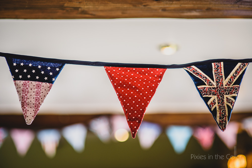 UK and USA bunting