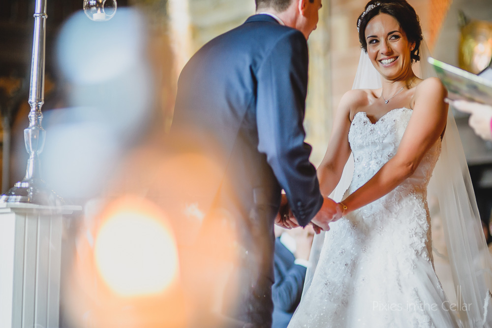 Manchester wedding photographer smiling bride
