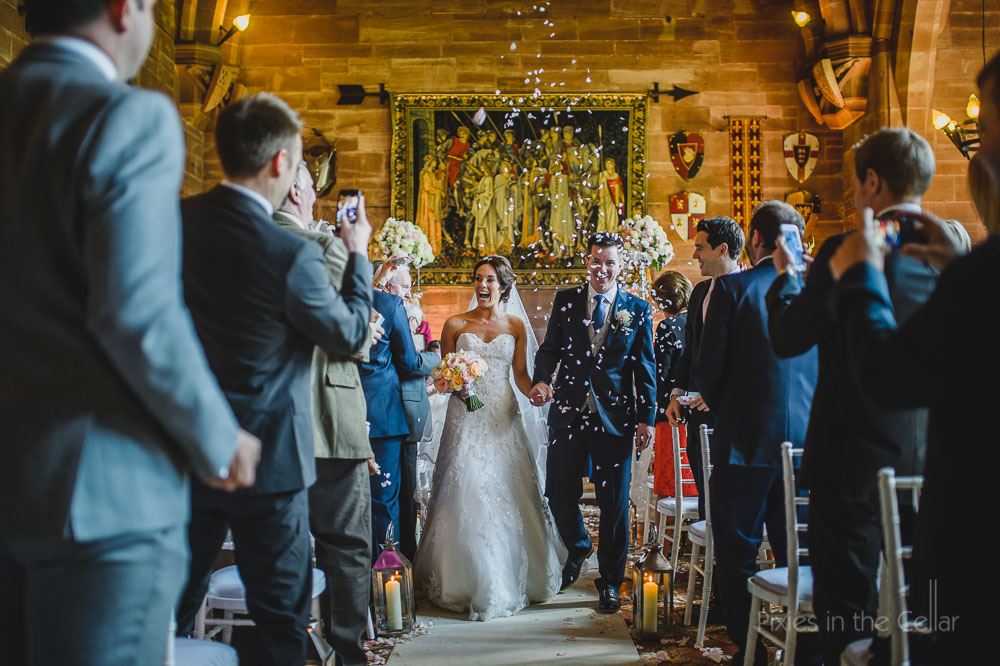 Peckforton castle wedding confetti