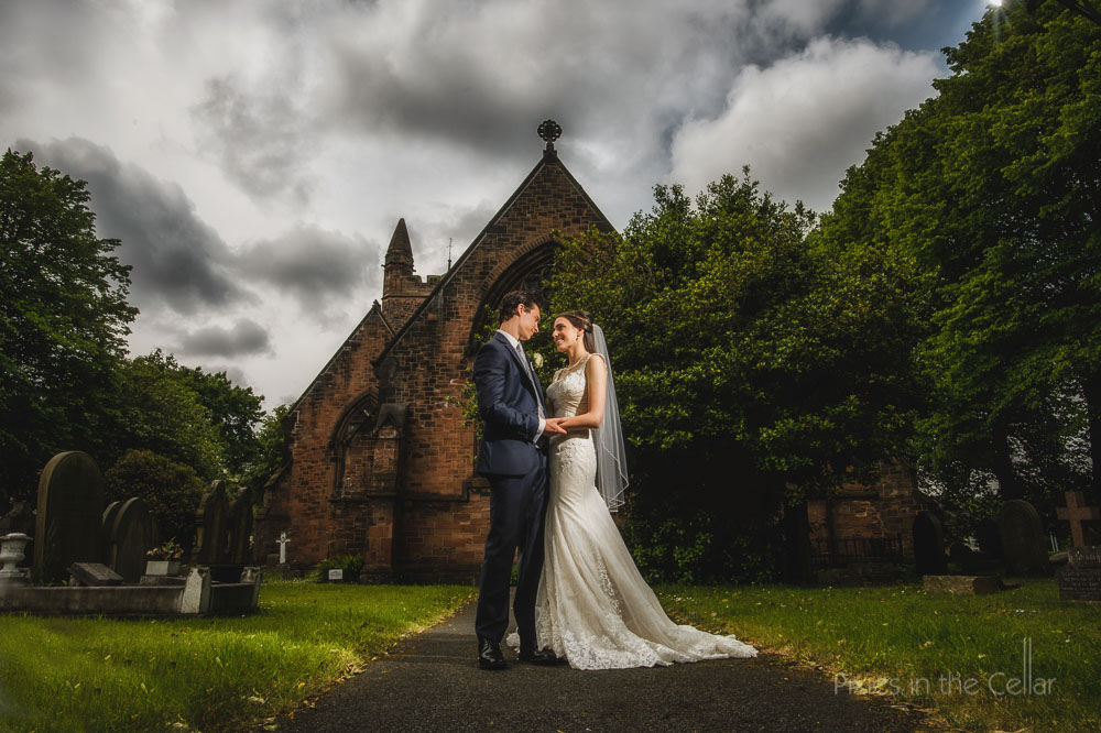 bride groom church wedding cheshire