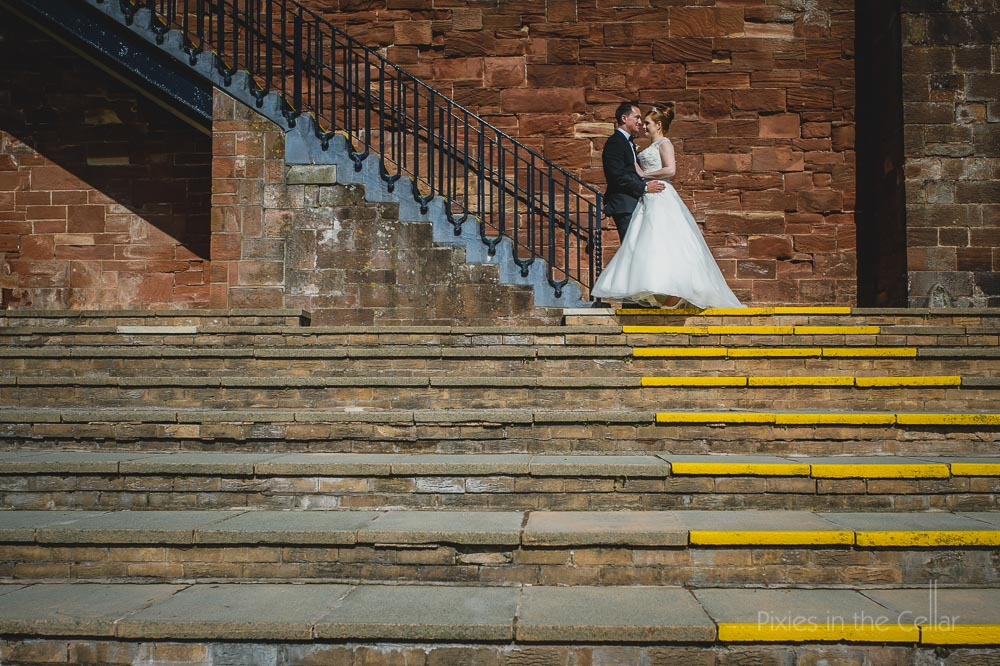 chester racecourse wedding photographer steps