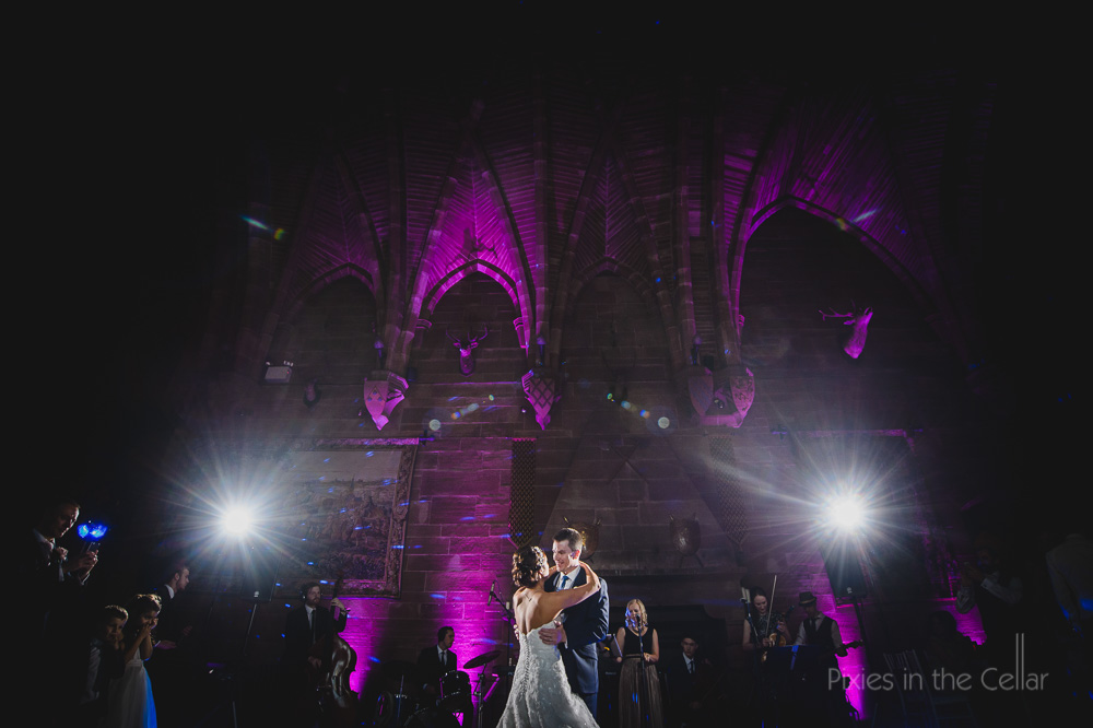 peckforton castle wedding hipswing lighting