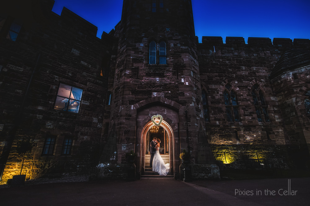 castle wedding photography cheshire