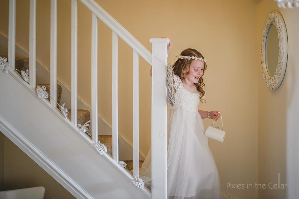 English wedding flower girl