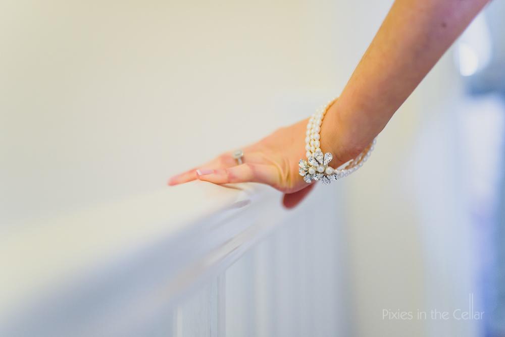 Wedding details photo bracelet