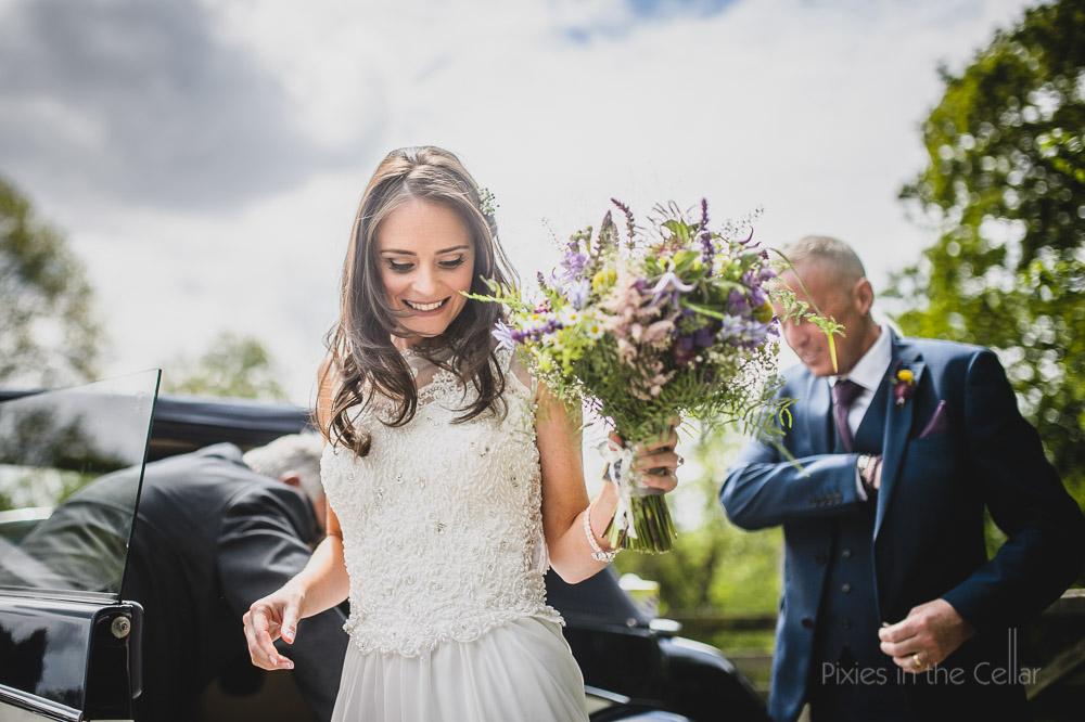 Rustic natural wedding photography