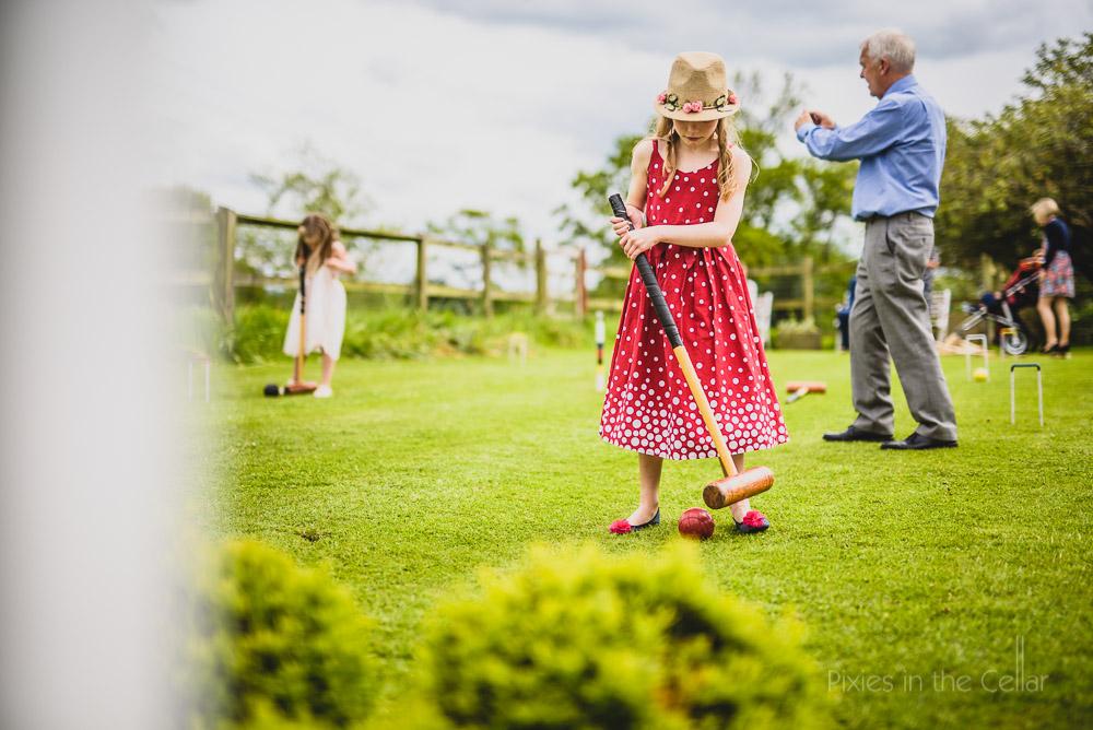 wedding children croquet