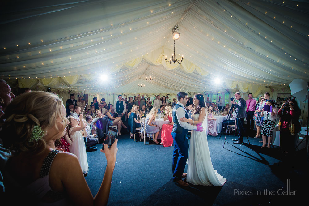 155 Hilltop Country House Marquee first dance