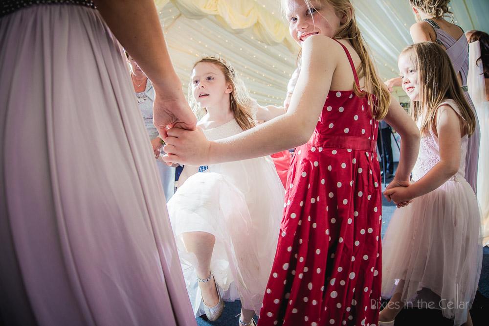children dancing wedding