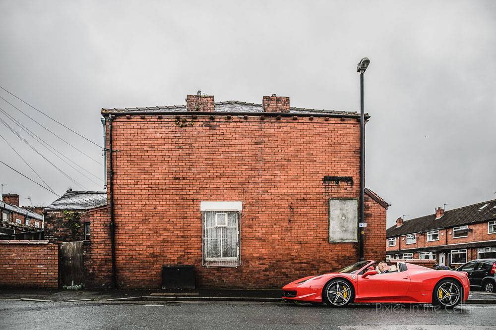 Red Ferrari Up North
