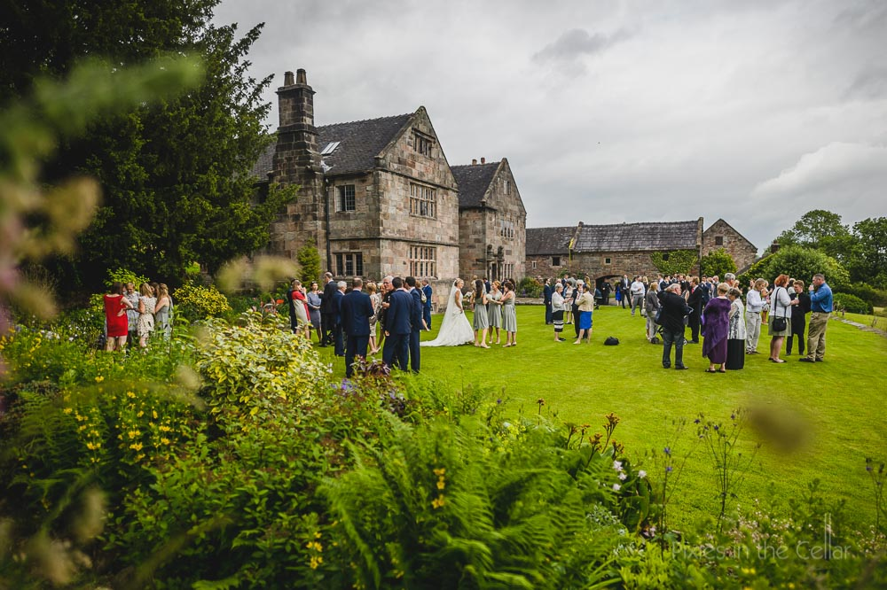 The ashes wedding reception on the lawn