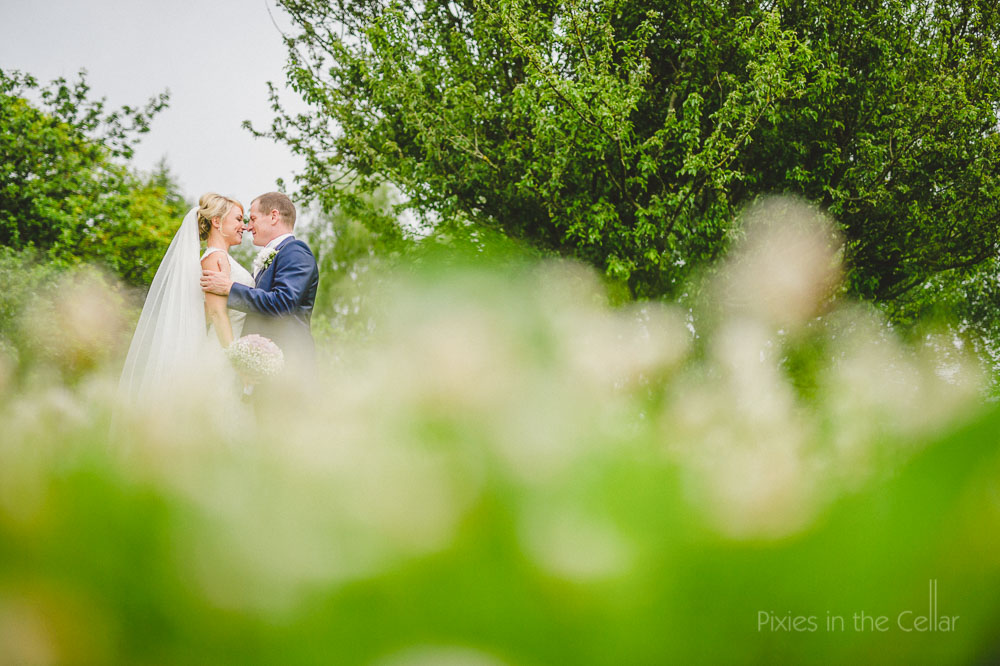 summer wedding portrait