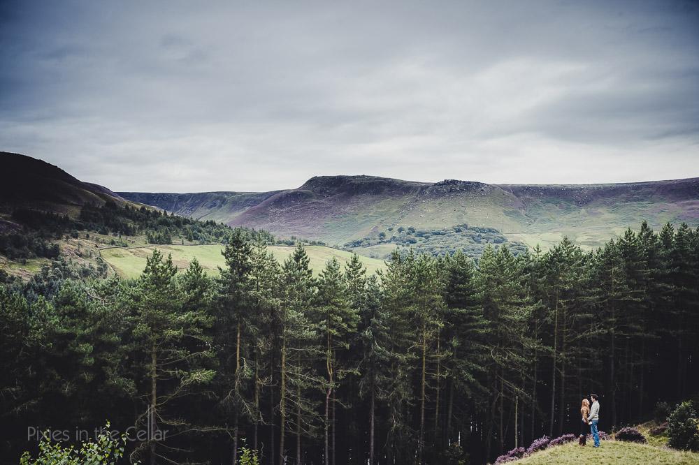 landscape view engagement shoot manchester