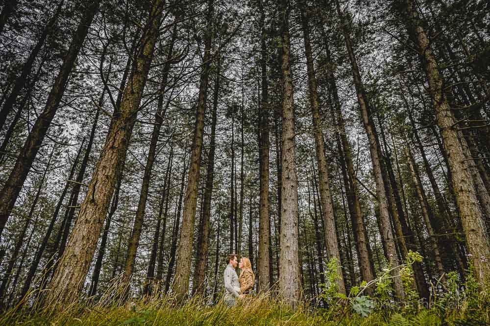 togetehr in the woods engagement shoot manchester