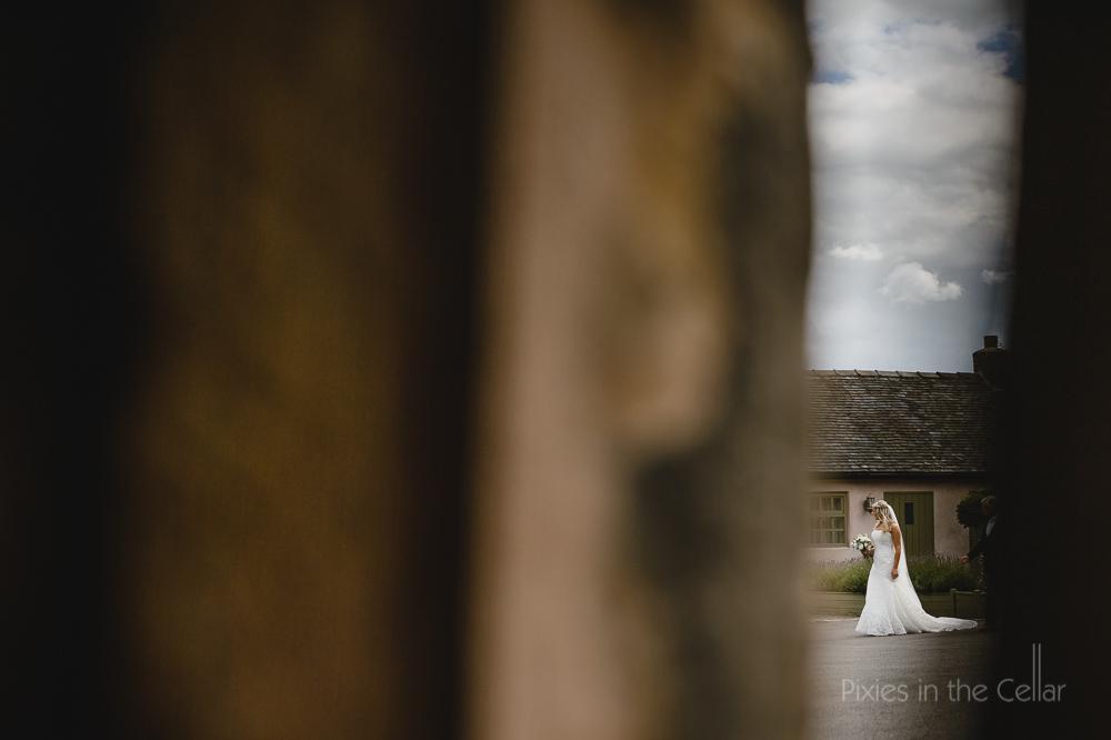 bride through window