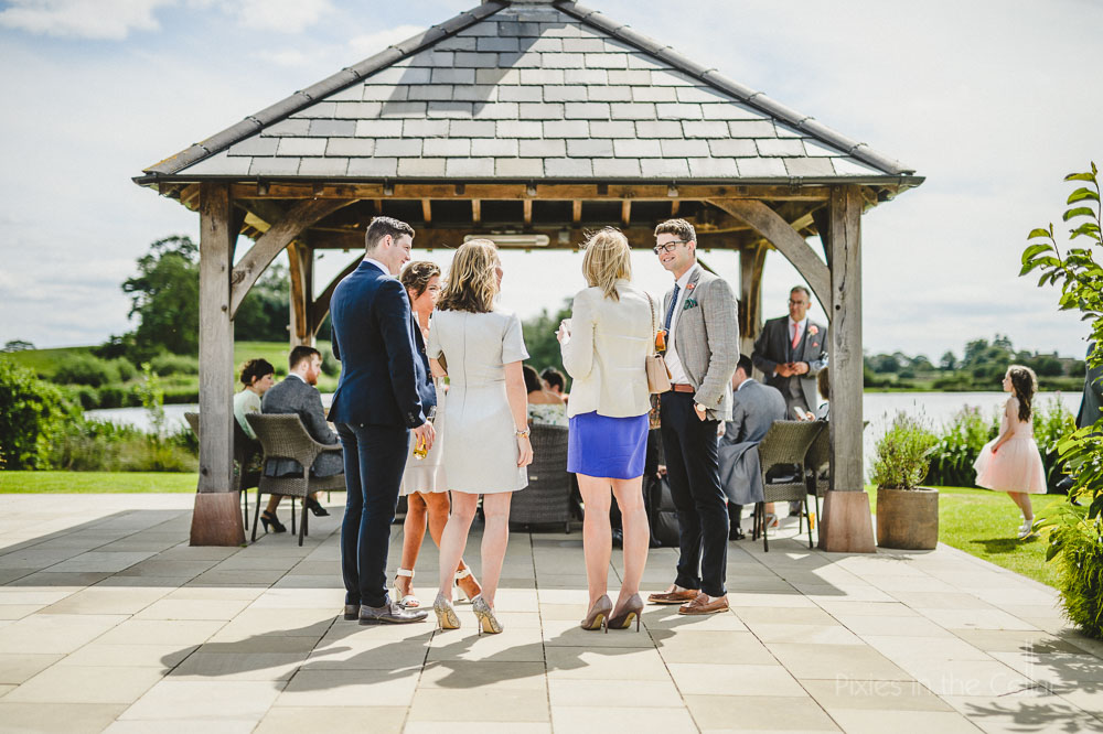 sunny cheshire wedding reception