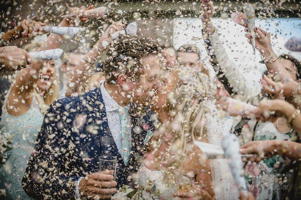 wedding confetti petals