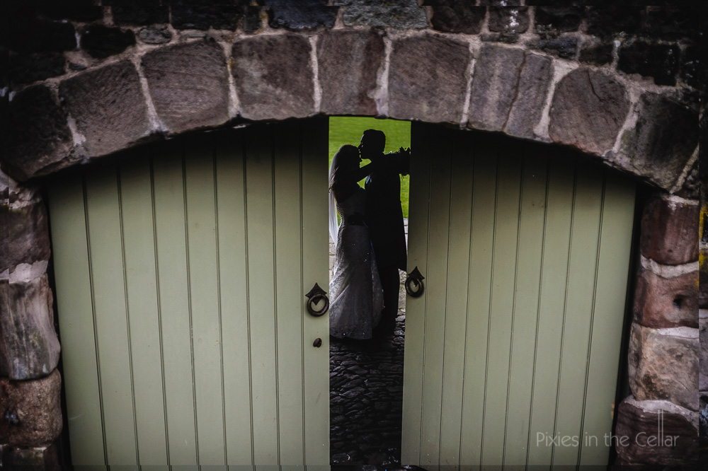The Ashes Wedding venue silhouette