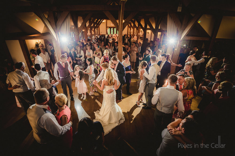 sandhole oak barn wedding evening party