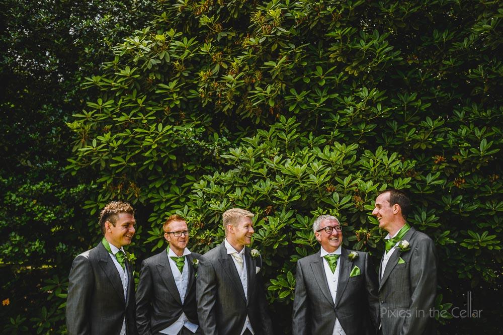 groom and groomsmen cheshire wedding