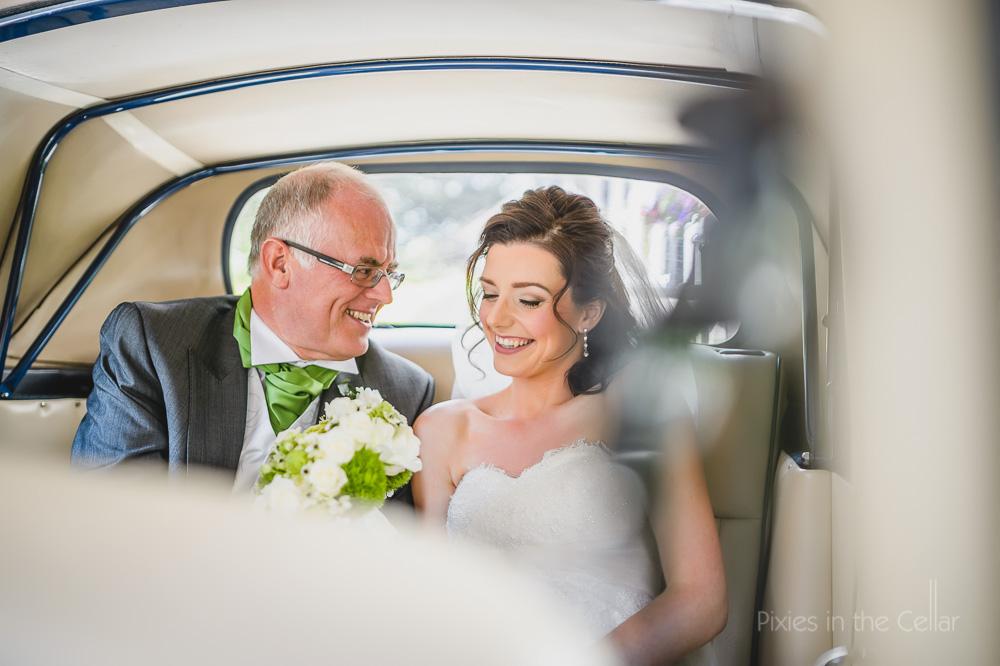 bride dad car