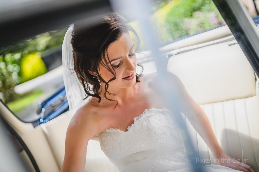summer bride cheshire wedding