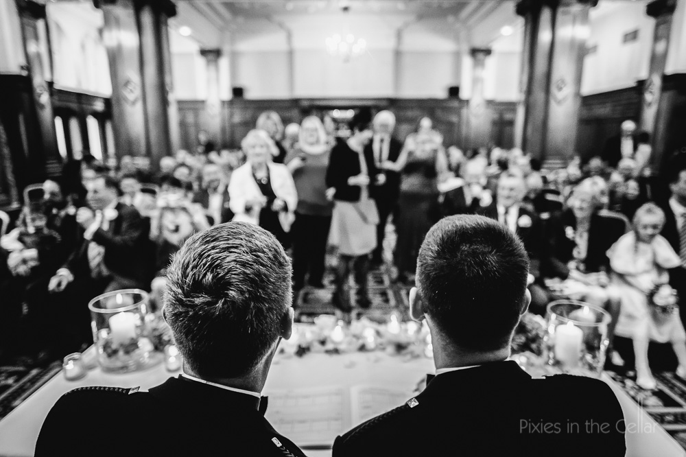 just married guest photos