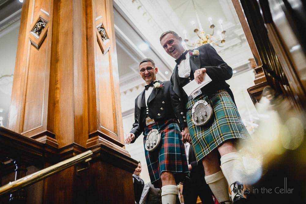 tartan gay wedding