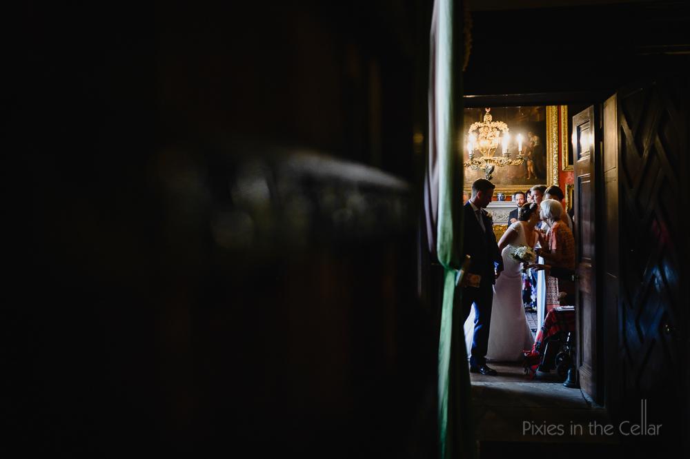 leaving wedding ceremony browsholme hall