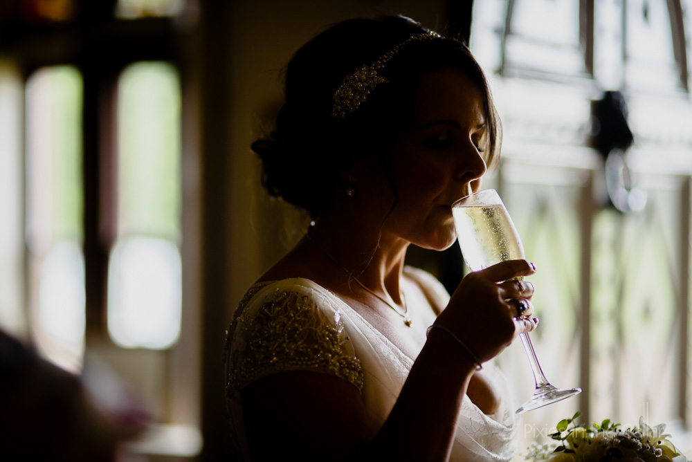 bride and champagne