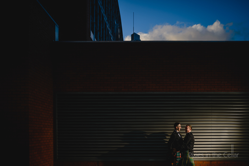 manchester city centre gay wedding photography