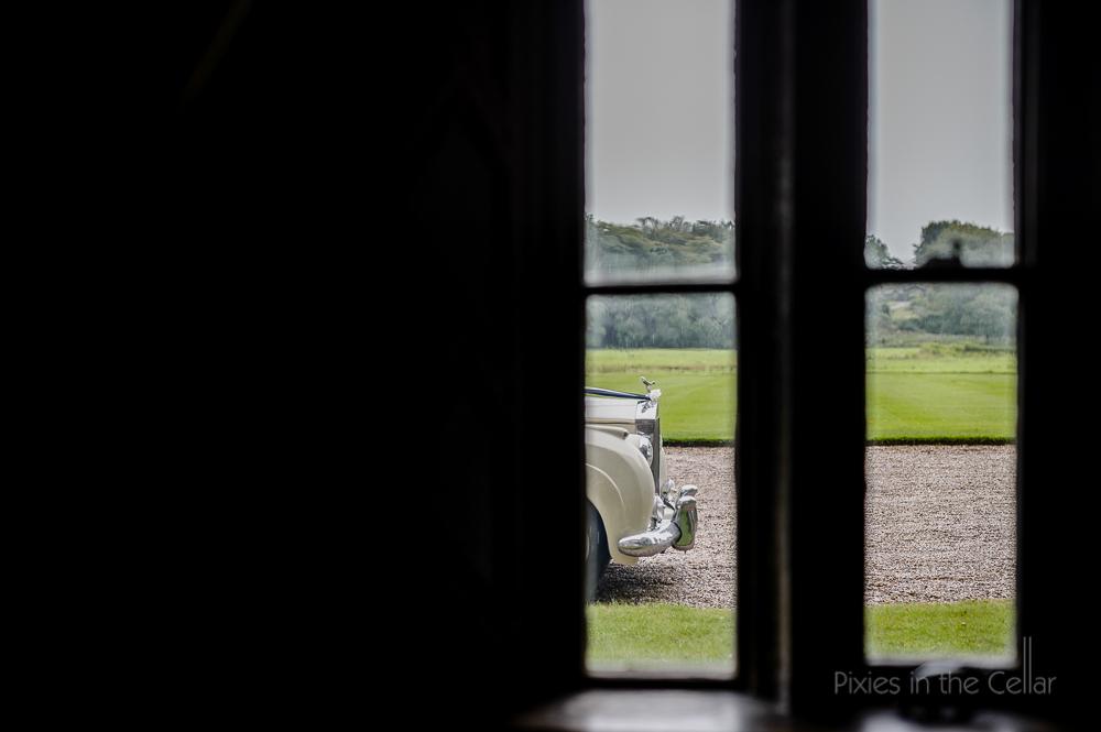 rolls royce through window