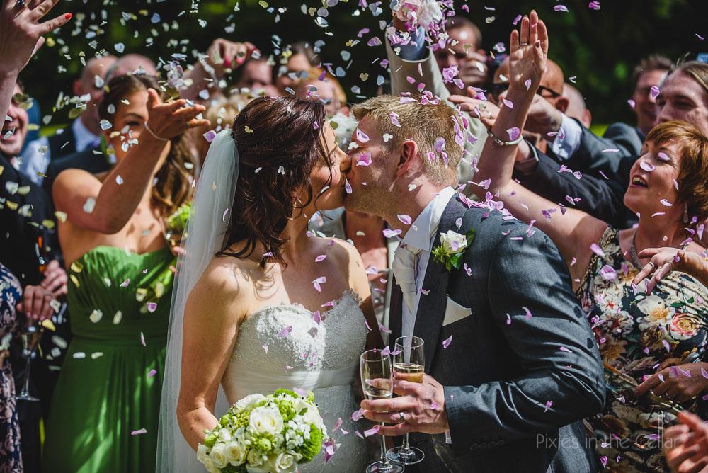 sunny cheshire wedding confetti