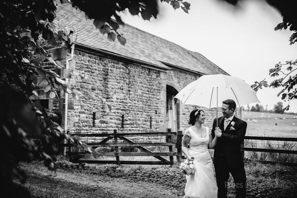 rainy wet wedding