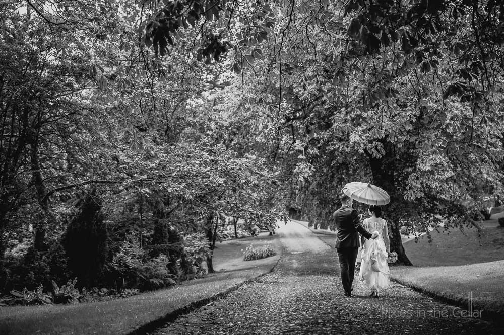 walking in rain browsholme hall