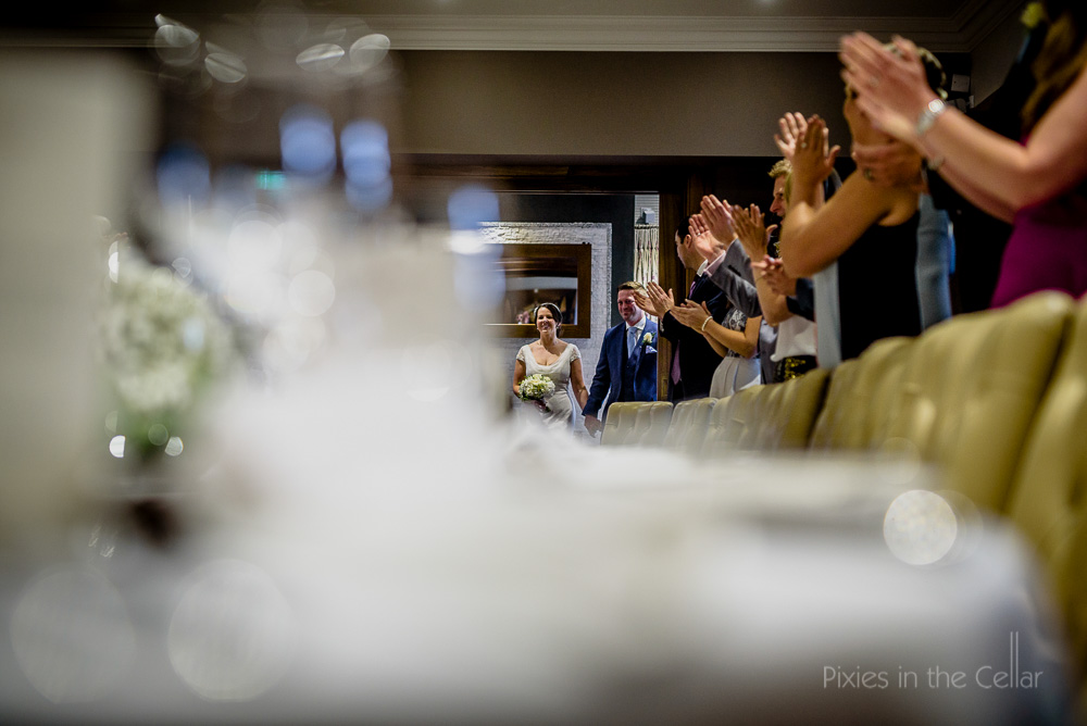 bride groom entry to meal northcote